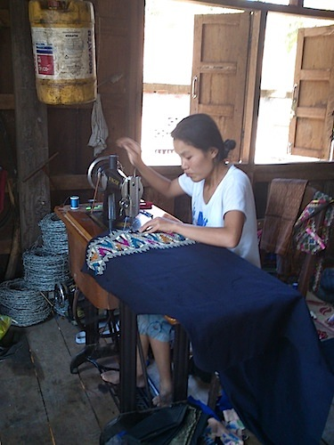 Trainee tailor at Laos centre